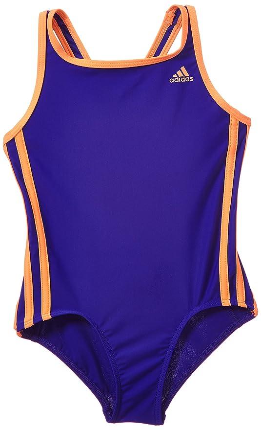 best website dc777 c2976 adidas Infinitex 3 Stripes 1 Piece Swimsuit Girl Flash Night Flash  S15Orange purple Night