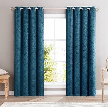 ME Redmont Lattice Wide Width Thermal Blackout Grommet Curtain Panel    96u0026quot;