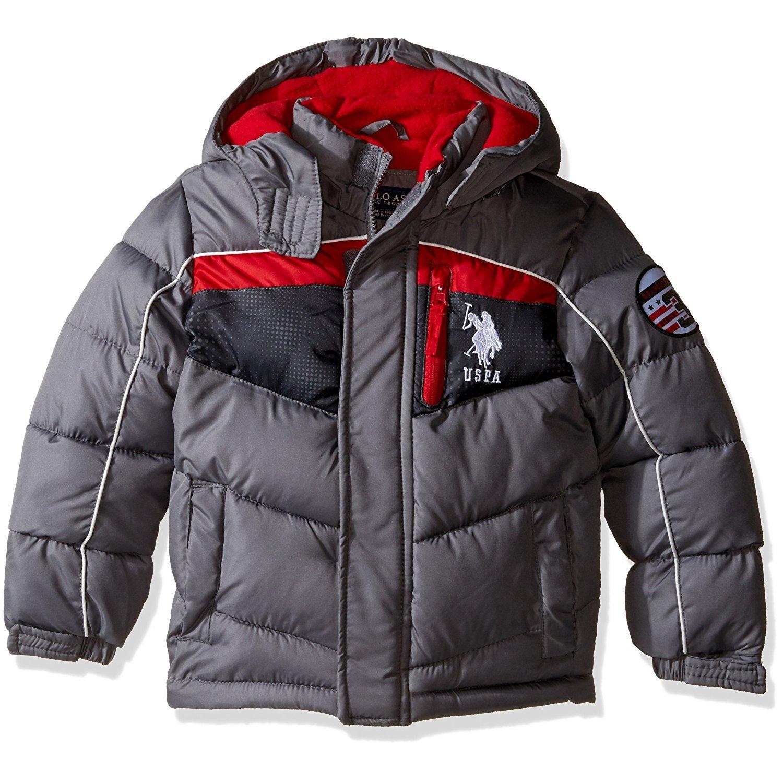 bbf1ed1ba Amazon.com: U.S. Polo Assn. Boys' Hooded Bubble Jacket (3T, Blue ...