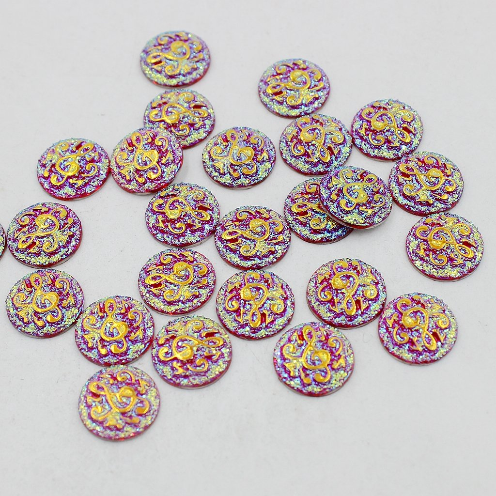 B Baosity 50Piezas Beads Artesanías para Scrapbooking Álbumes y Pegatinas Adornos DIY - Rojo: Amazon.es: Juguetes y juegos