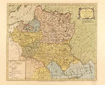 Amazoncom Map Poster  Map of the Kingdom of Poland  and the