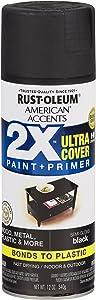 Rust-Oleum 327950-6 PK American Accents Spray Paint, Semi-Gloss Black