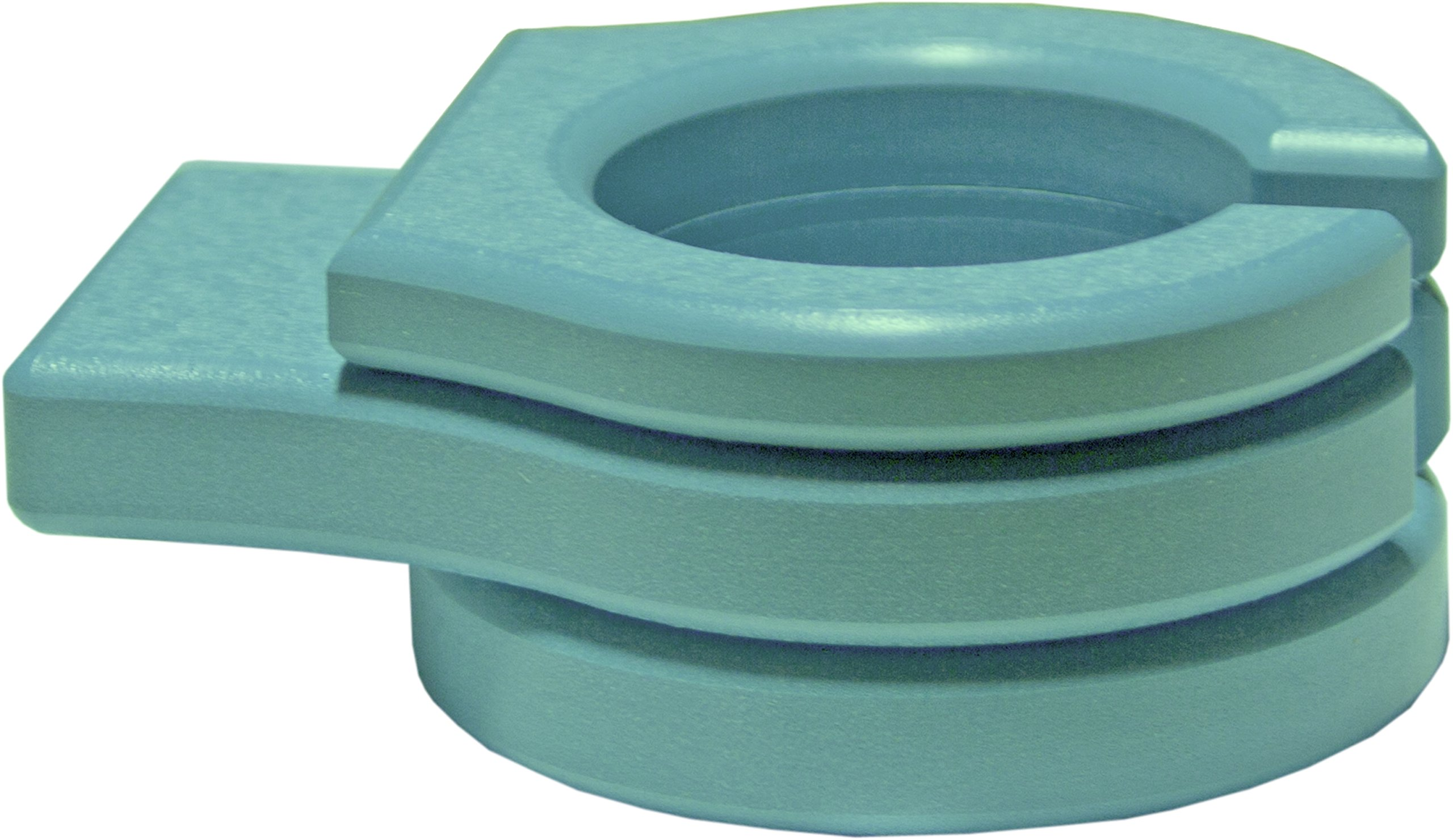 LuxCraft Poly Outdoor Stationary Cup Holder for Gliders, Benches, Deck Chairs (Tropical - Aruba Blue)