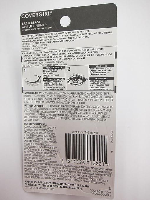 676a92de120 Amazon.com: Covergirl Lash Blast Amplify Lash Primer, 780 Neutral White  (Pack of 2): Beauty