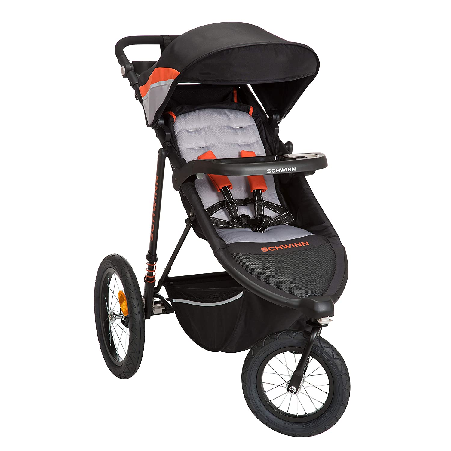 Schwinn Interval 2-in-1 Jogging Stroller with Locking Front Wheel (Oriole)