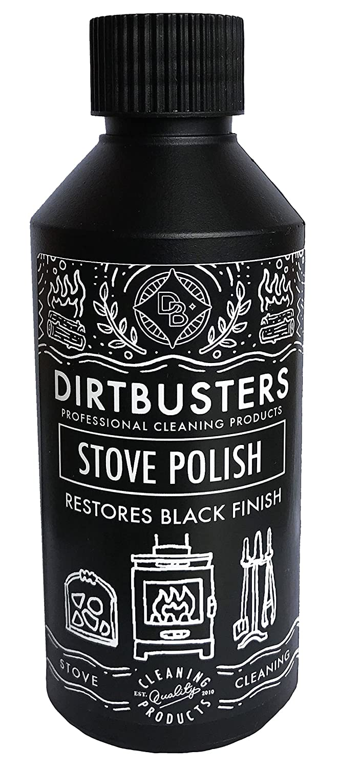 Dirtbusters black stove and grate polish 250ml for wood burning stoves fireplace grates and log burners (1)