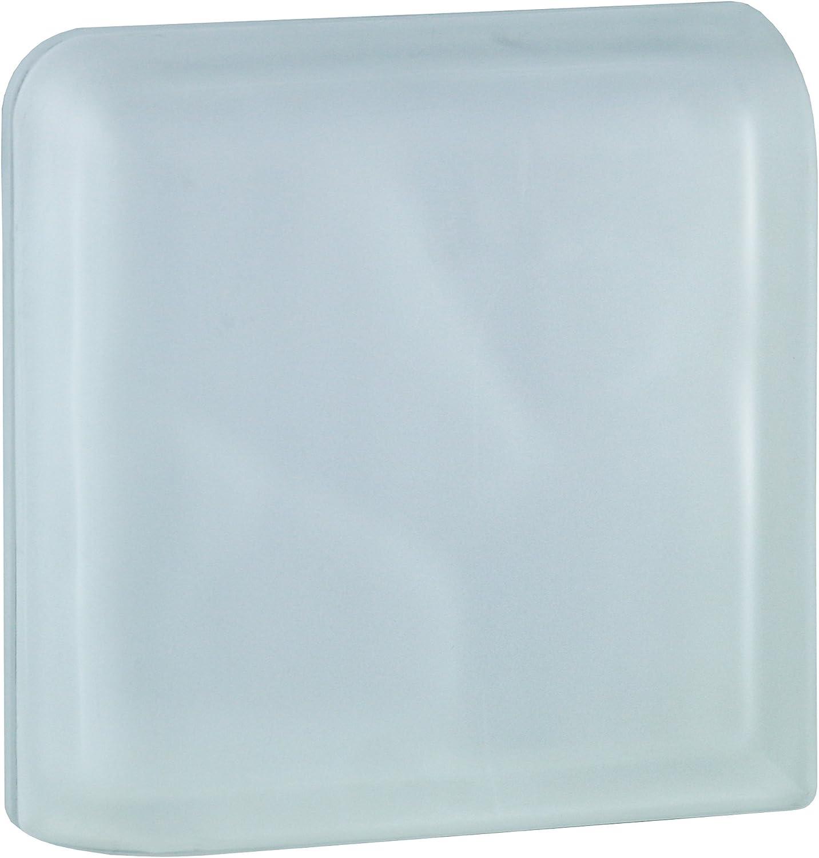 1 pieza BM bloque de vidrio nube SUPER white 13,2x19x8 cm Esquina 90/°