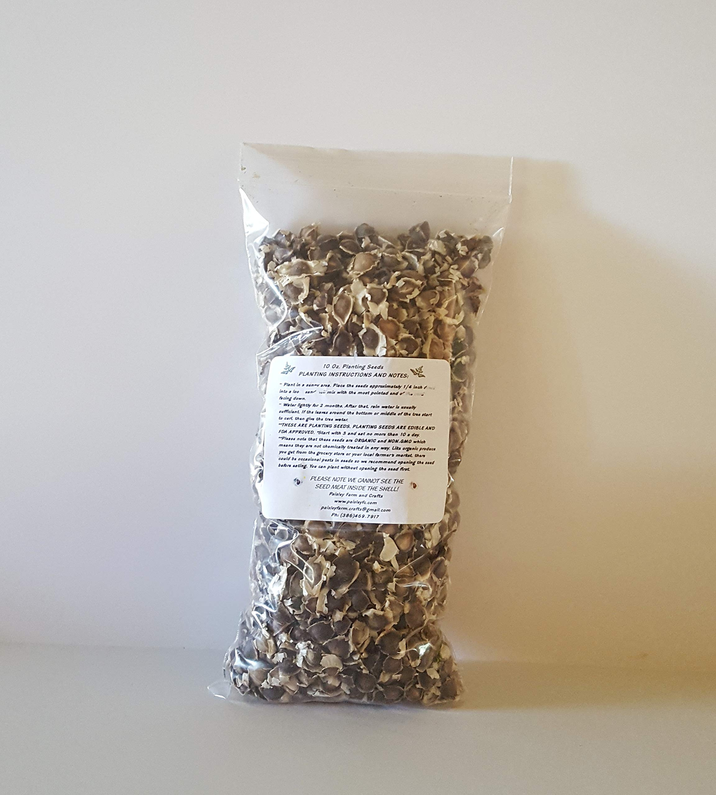 10 oz (APX 1000) Moringa Malunggay Drumstick Seeds - Paisley Farm and Crafts