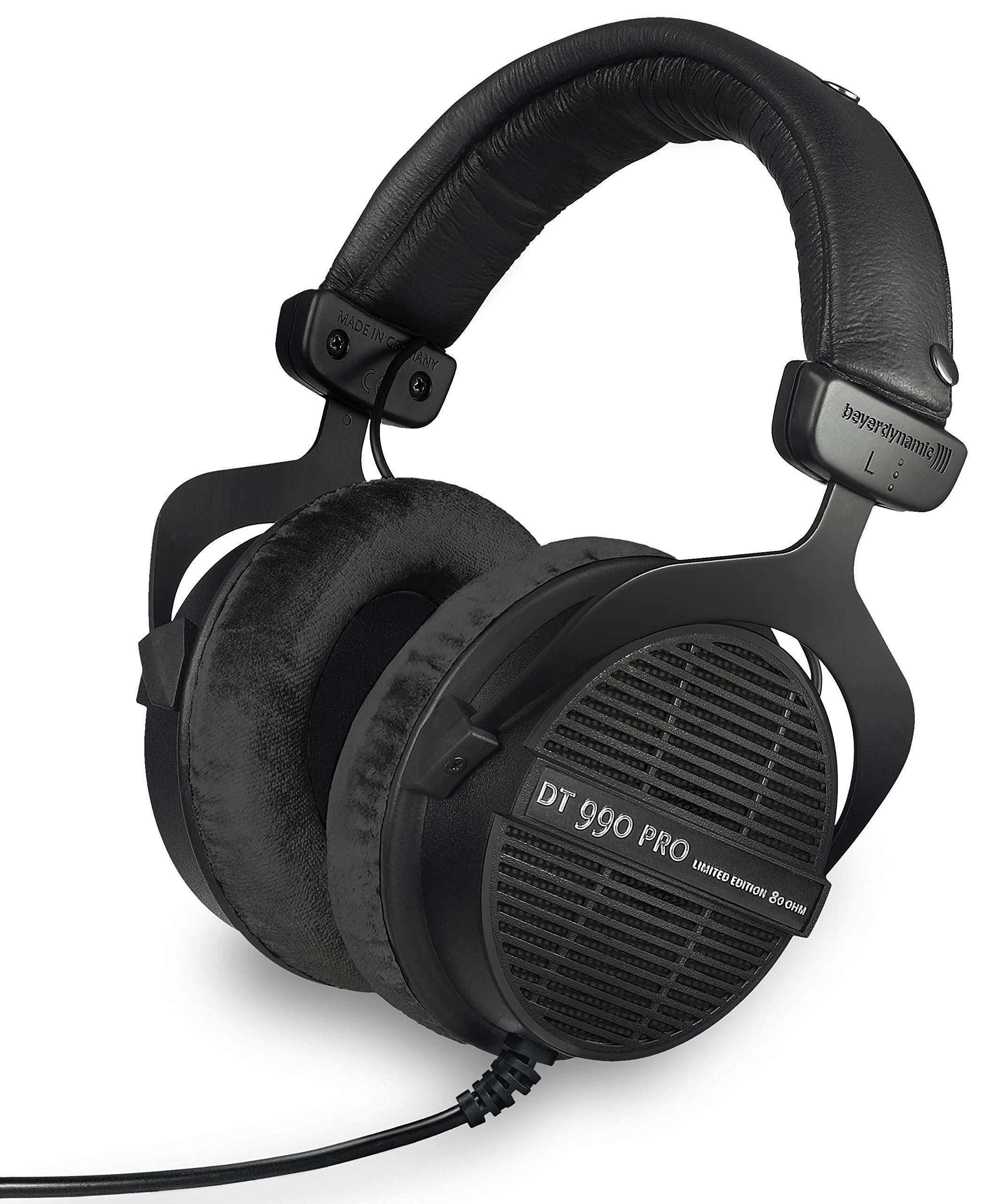 beyerdynamic DT 990 PRO Over-Ear Studio Monitor Headphones – Open-Back Stereo Construction, Wired