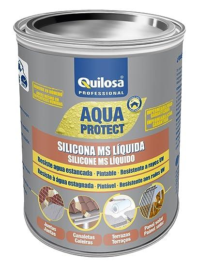 Quilosa T003095 Silicona Ms Liquida, Negro, 1 kg