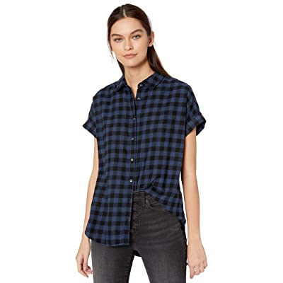 Brand - Goodthreads Women's Brushed Twill Short-Sleeve Button-Front Shirt: Clothing