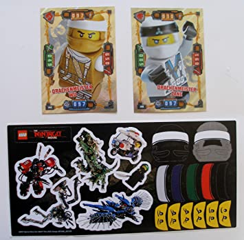 Lego Ninjago Trading Card Serie 4 - 2 XXL Tarjetas Dragón ...
