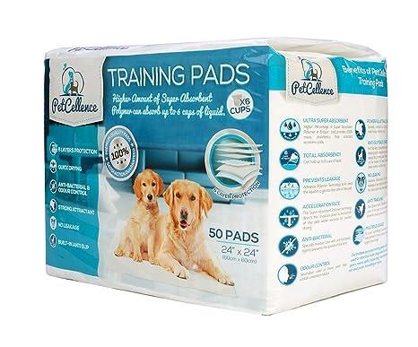 50 Empapadores Perros Cachorros Mascotas | 6 Capas Super Absorbentes Protegen Pisos Y Alfombras | Atrayente. Pasa el ...