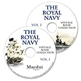 The Royal Navy Vintage Books Collection 210 PDF E-Books on 2 DVD's military ships, navy medals, memories of navy officers, Iron-clad ships, Signals & Instructions, Humorous art in the Navy, Old books on disc