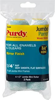 product image for Purdy 140626040 Jumbo Mini Parrot Roller Replacement, 2-Pack, 6-1/2 inch x 1/4 inch nap