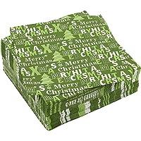 100-pack Servilletas de cóctel–Temática de papel desechables Party Servilletas de Navidad con árbol de Navidad Prints- suave y absorbente–perfecto para almuerzos, cenas y celebraciones–16,5x 16,5cm