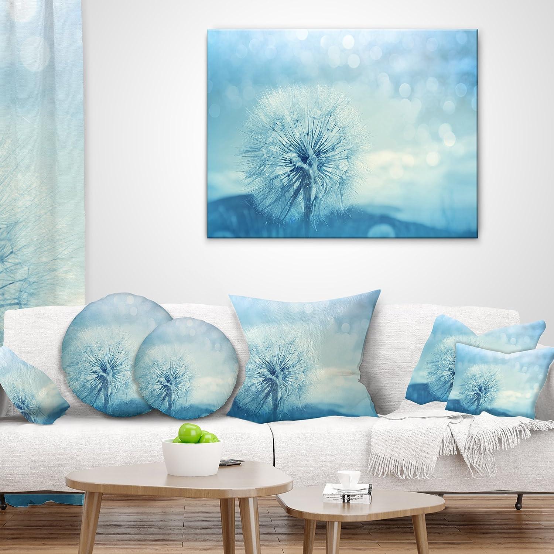 X 18 In 18 In Sofa Throw Pillow Designart Cu12346 18 18 Close Up White Dandelion