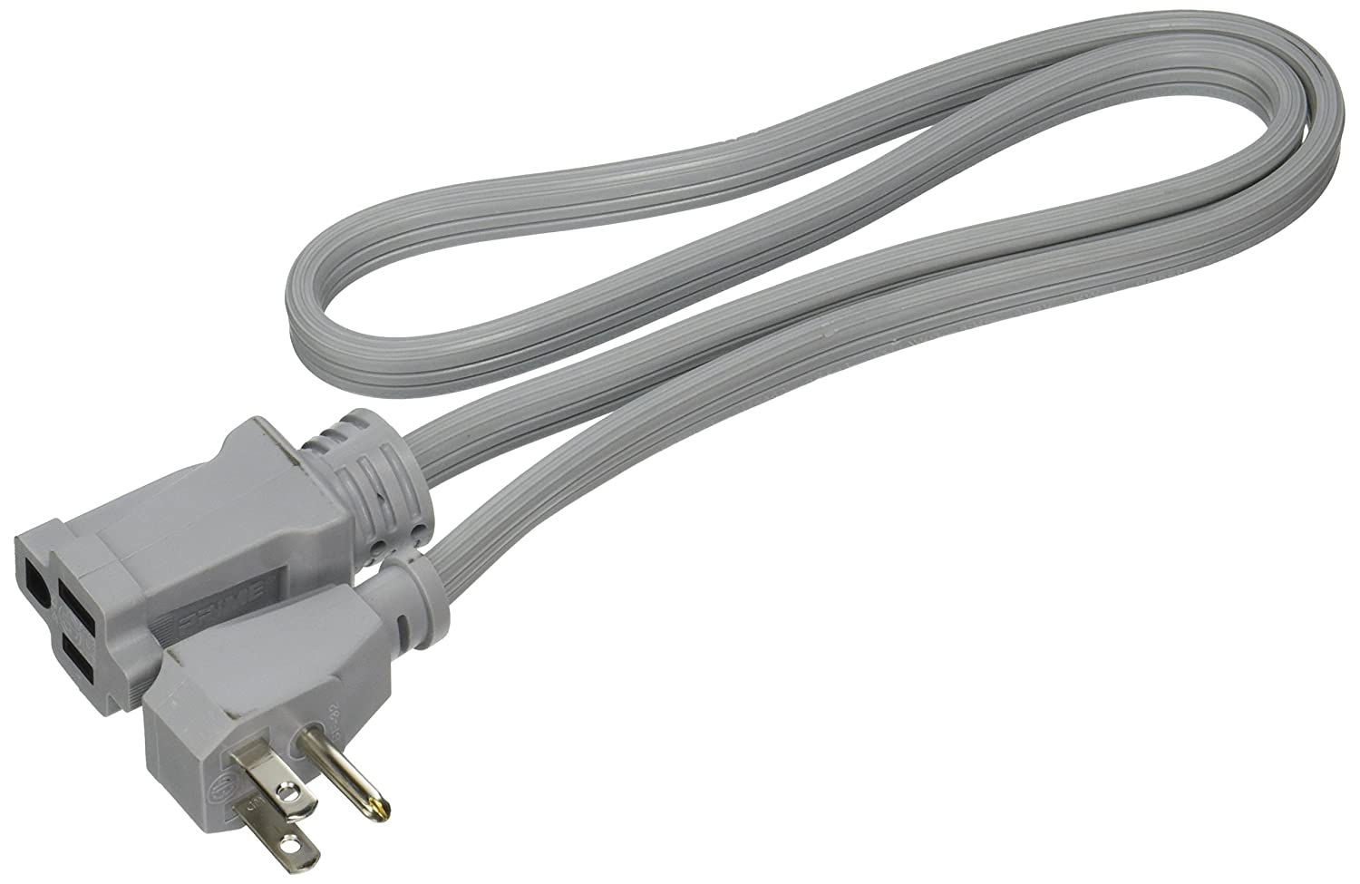 Prime EC680503L Air Conditioner and Major Appliance Extension Cord, Gray, 3-Feet