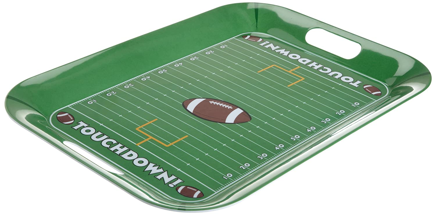 DII Game Day Football Field Melamine Serving Tray