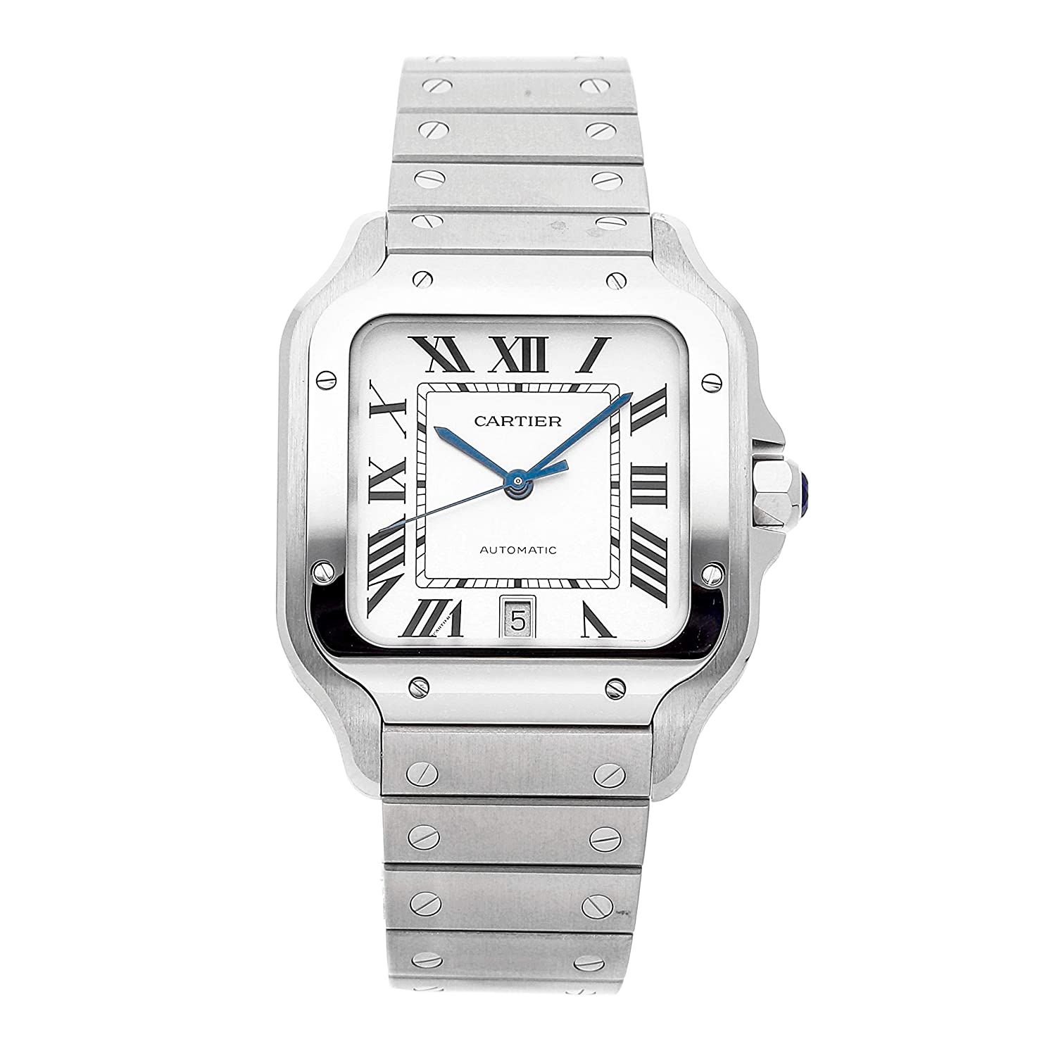 Functional Watch, Automatic Watch, Steel Watch, Silver Watch, Square Watch