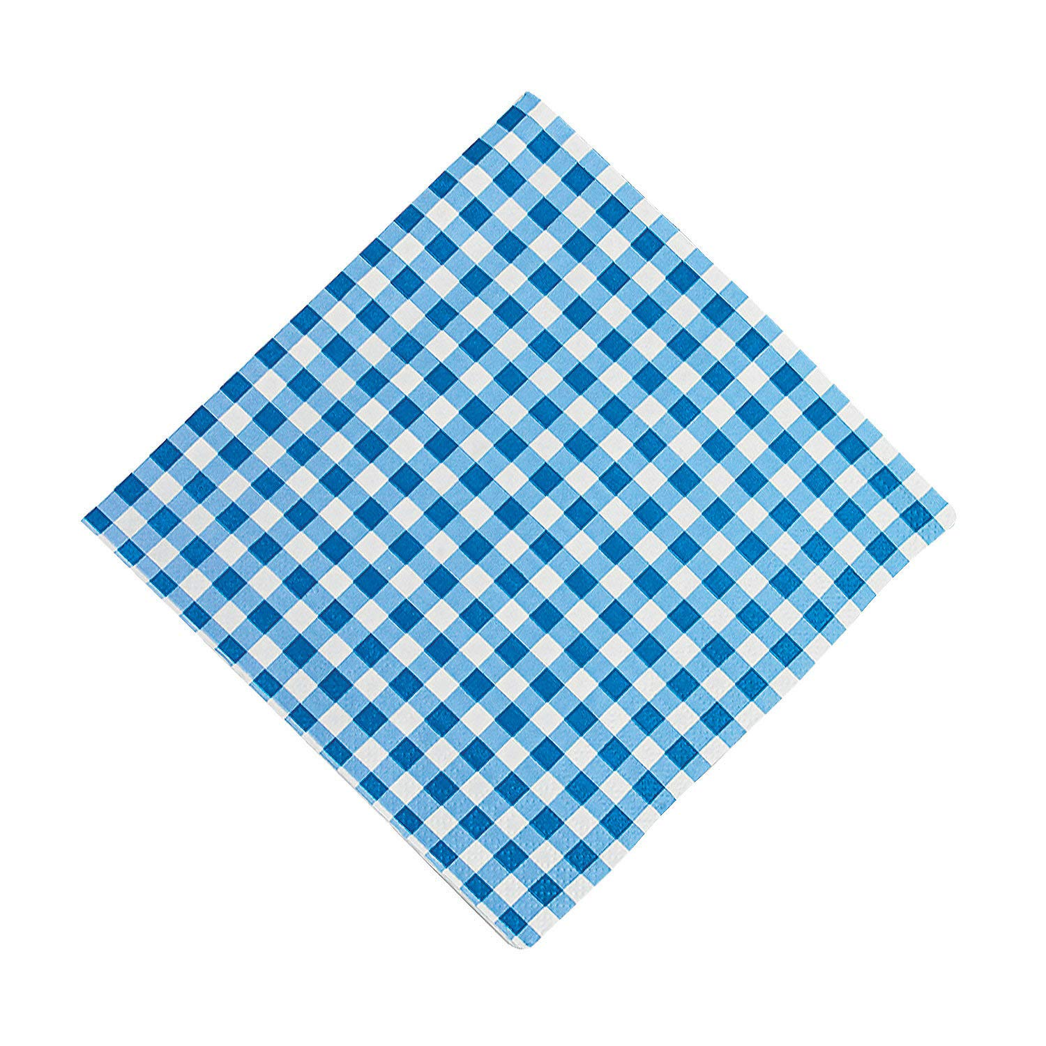 Oriental Trading Company -Blue Gingham Luncheon Napkins - Tableware, 13''W