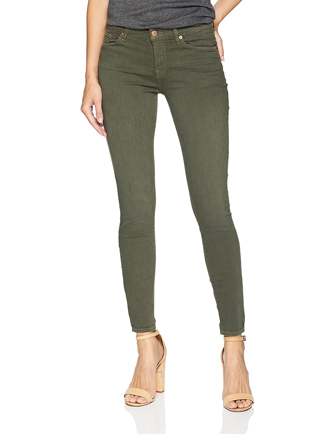 7 For All Mankind Women's Ankle Skinny Sandwashed Twill Jean AU8097894A