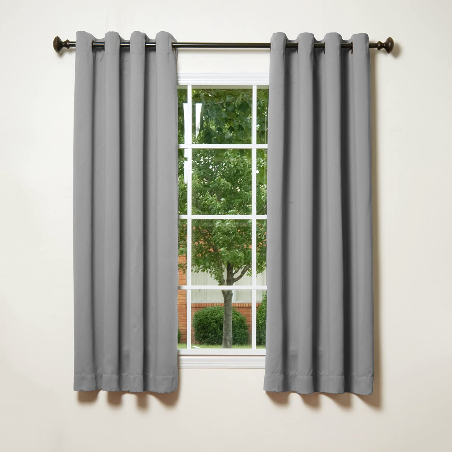 Thermal curtains grey - Amazon Com Best Home Fashion Thermal Insulated Blackout Curtains Antique Bronze Grommet Top Grey 52 W X 63 L Set Of 2 Panels Home Kitchen