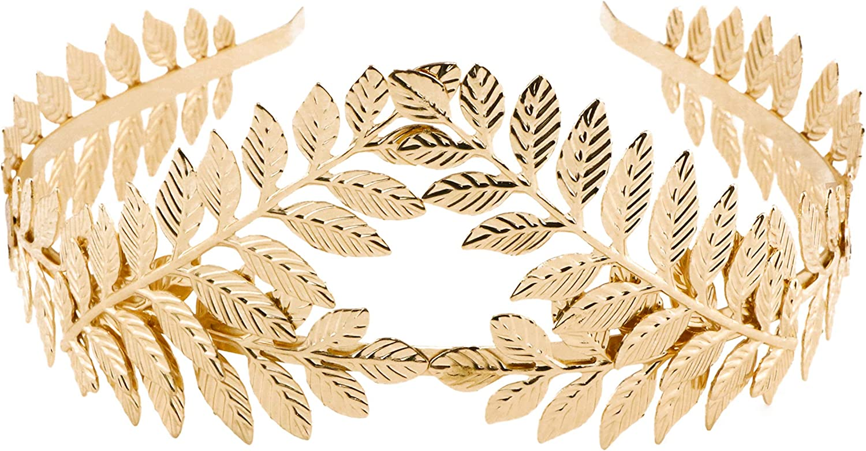 Grecian Rose Gold Laurel Leaf Crown The Triple Goddess Rose Gold Leaf Headband Special Occasion Bridal