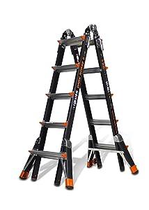 Little Giant Ladder Systems 15145-001 300-Pound Duty Rating Fiberglass Multi-Use Ladder