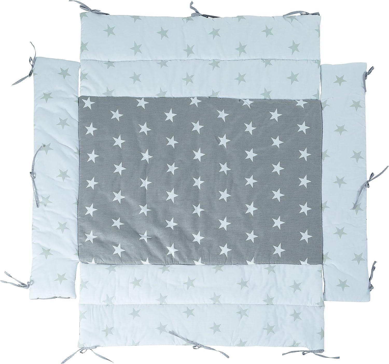 Roba Fondo e Paracolpi Box Universale little Stars` per Box con Misure 75x100 Fino a 100x100 Cm
