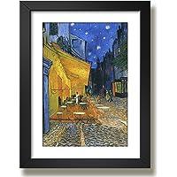 Quadro Van Gogh Terraço Cafe (Terrace Café) Pintores Famosos Decorativo Casa Sala Quarto Loja Escritorio Moldura e…