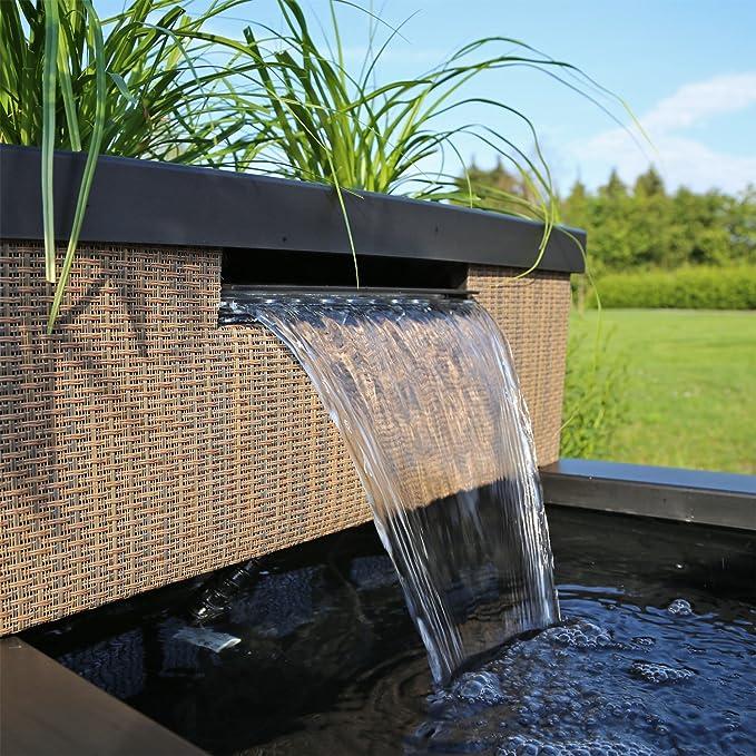 Clgarden Mtws1 Miniature Avec Led Cascade Mini Bassin Pour Jardin Balcon Terrasse