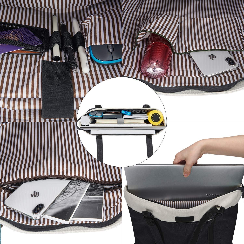 LIVACASA Laptoptasche Damen Business Tote Bag 15.6 Zoll Laptop Verschlei/ßfest Handtasche Notebooktasche Leicht Umh/ängetasche Schopper Arbeit Aktentasche Schultertasche f/ür Business Schule Blau