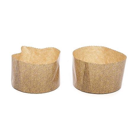 Juego de moldes 2 piezas de papel, para panettone