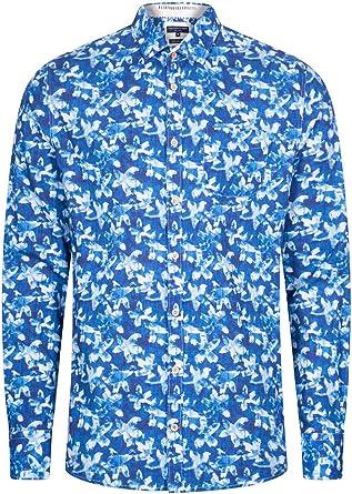 Colours & Sons Camisa Tom para hombre, algodón, manga larga ...