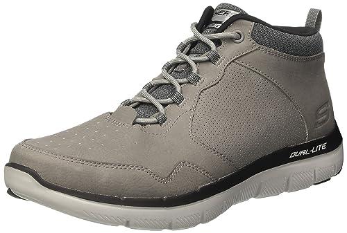 Skechers Flex Advantage 2.0, Zapatillas de Entrenamiento para Hombre, Gris (Charcoal), 42 EU