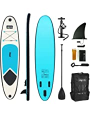 HIKS Blue 10ft / 3m Stand Up Paddle SUP Board Set Inc Paddle, Pump, Backpack & Leash Suitable all Abilities Ideal Beginners Inflatable Paddleboard Kit