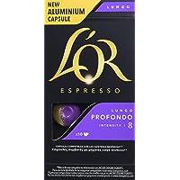L'Or Espresso Lungo Profondo | 4 Paquetes x 10 cápsulas - Total 40 cápsulas