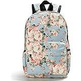School Backpack Light Weight Canvas Book Bag for Girls Women