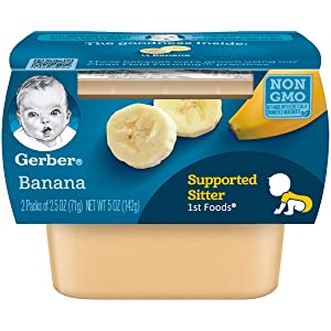 Gerber 1st Foods Bananas, 2-Count, 2.5-Ounce Tubs (Pack of 8)