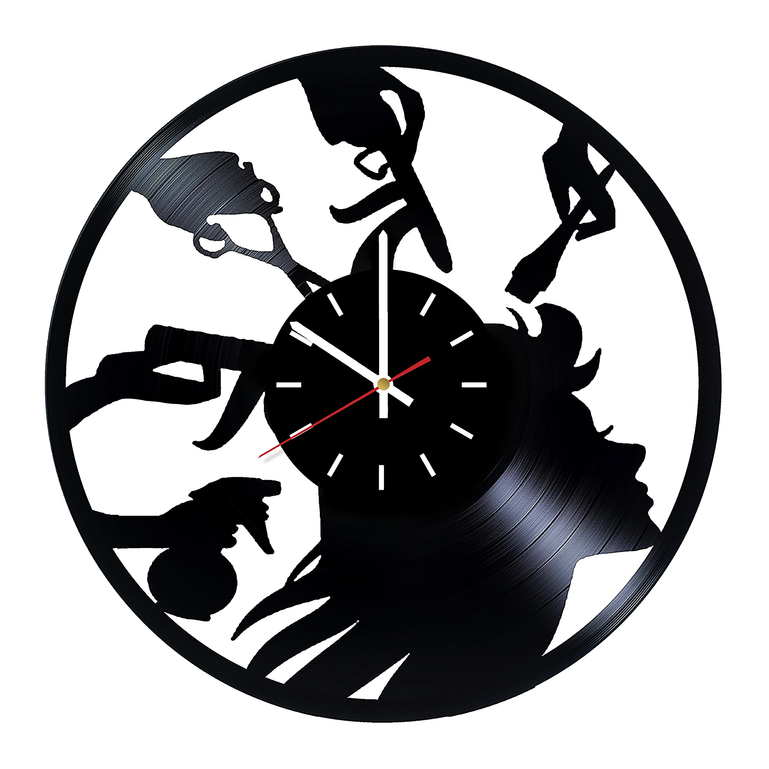 Everyday Arts Beauty Salon Vinyl Record Wall Clock - Get Unique Bedroom or Garage Wall Decor - Gift Ideas for Friends, Beauty Salon Unique Modern Art