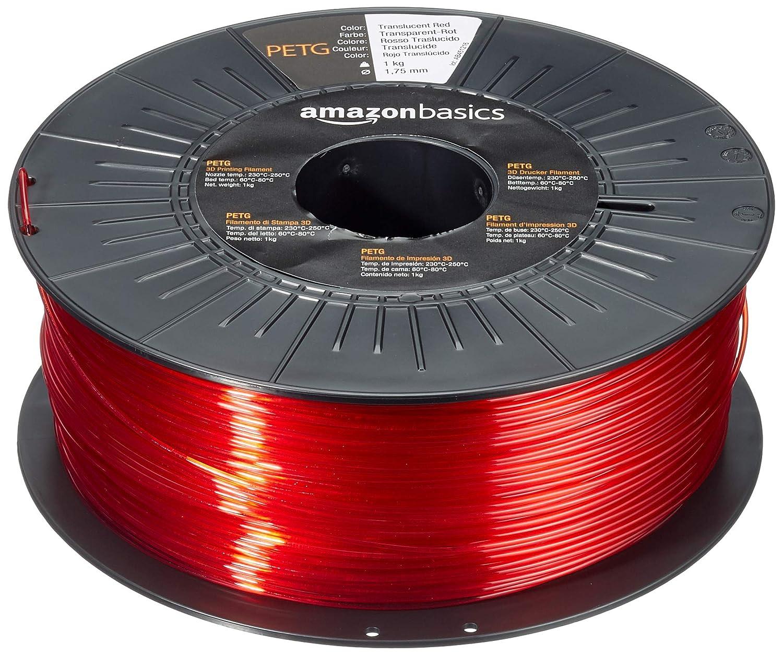 5 colores diferentes Basics 5 cintas de 1 kg cada una Filamento para impresora 3D tereftalato de polietileno 1,75 mm PETG