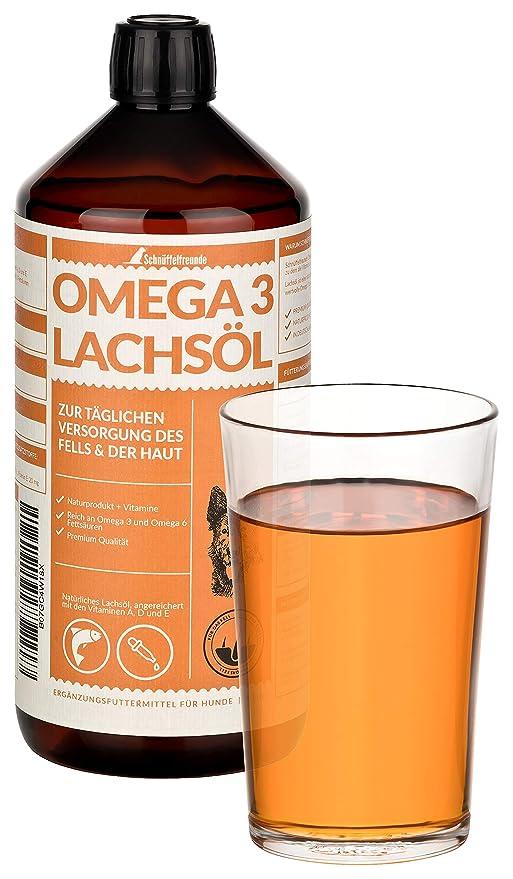 Schnüffelfreunde Omega 3 Lachsöl I Aceite de Salmón para Perros y ...