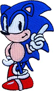 Sonic el erizo souvenir diseño de disfraz de Insignia Patch ...