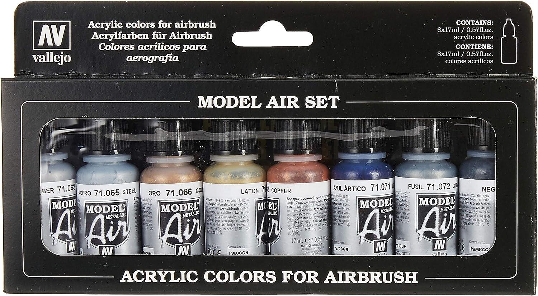 Colores Vallejo Model Air básicos para Air Brush - Surtido de Colores (paquete de 8)