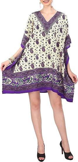 TALLA Talla única. Miss Lavish London Mujer Kaftan Túnico Kimono Estilo Más tamaño Vestido para Loungewear Vacaciones Ropa de Dormir & Cada día Cubrir para Arriba Tops #120