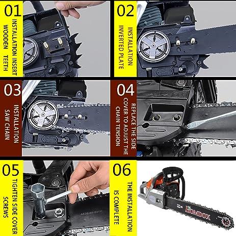 Amazon etuoji 62cc 20 saw blade petrol chainsaw 42hp 2 etuoji 62cc 20quot saw blade petrol chainsaw 42hp 2 stroke gas powered with greentooth Gallery