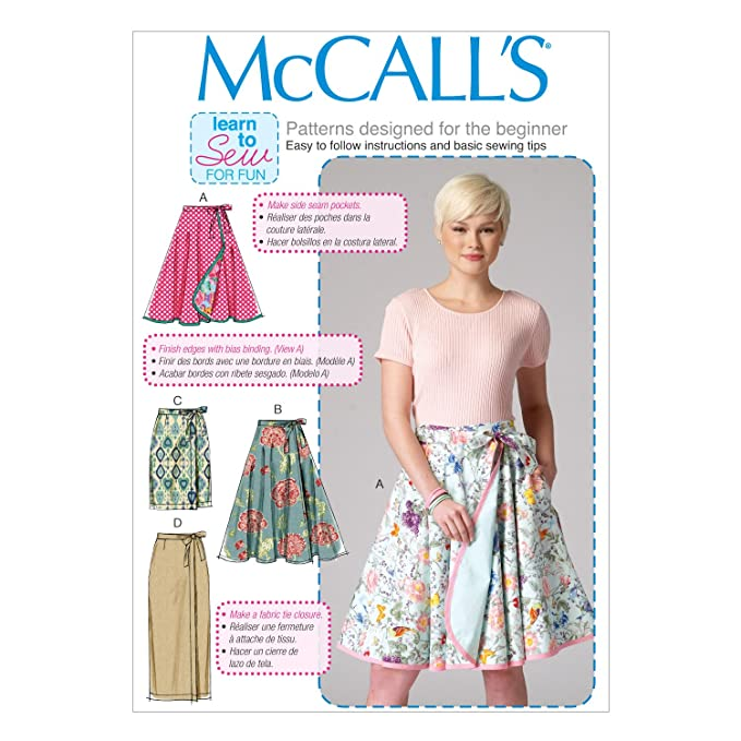 McCall\'s Patterns 7129 B5 Sizes 8/10/12/14/16 Misses Skirts Sewing ...