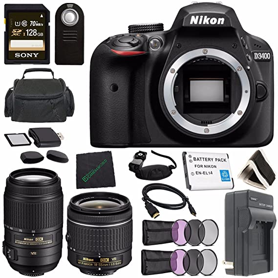 Amazon.com: Nikon D3400 DSLR Camera with AF-P 18-55mm VR ...