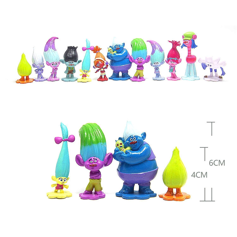 8pcs Cute Panda Figures Toy Figurine Doll Cake Topper Kids Gift 4CM